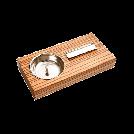 """Пепельница 09652 для сигар """"зебрано""""  1х1шт"""