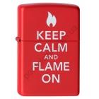 """Зажигалка """"Зиппо"""" 28 671 /Keep Calm and Flame/"""