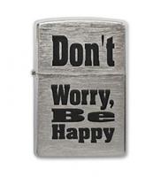 Зажигалка Zippo 200 Don't Worry, Be Happy