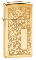 """Зажигалка """"Зиппо"""" 1652B /Slim Brass Venetian/"""