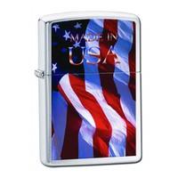 """Зажигалка """"Зиппо"""" 205 /Made In USA Flag/"""