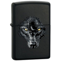 "Зажигалка ""Зиппо"" 28 001 /BS Black Wolf/ USA"