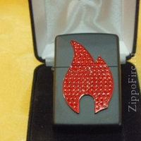 "Зажигалка ""Зиппо"" 29 106 /Bling Zippo Flame/ black box 1х1шт"