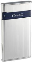 """Зажигалка """"Caseti"""" CA-418-4 газовая турбо/сплав цинка никель-хром глянцевая/"""