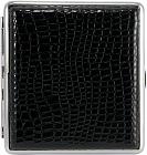 Портсигар 80084А Angelo /для 20сиг.черный кроко. ПВХ/ 1х1шт