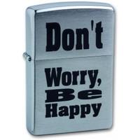 """Зажигалка """"Зиппо"""" 200 /Don't Worry, be Happy/"""